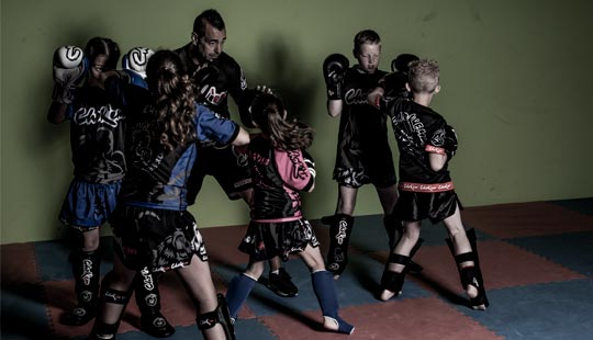 Kids kickboksen bij combat training center westland